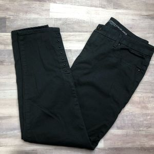 Chico's Girlfriend Ankle Studded Black Jeans